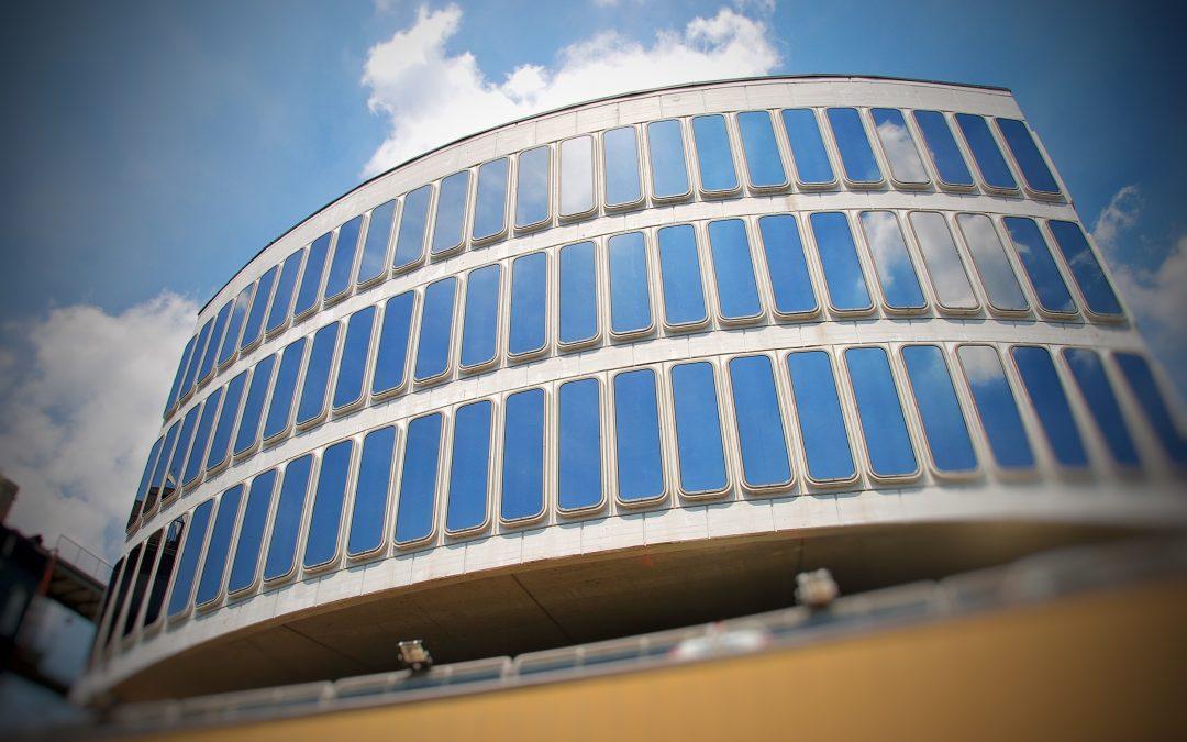 Lámina Solarcheck en la Cámara de Comercio de Turín, Italia