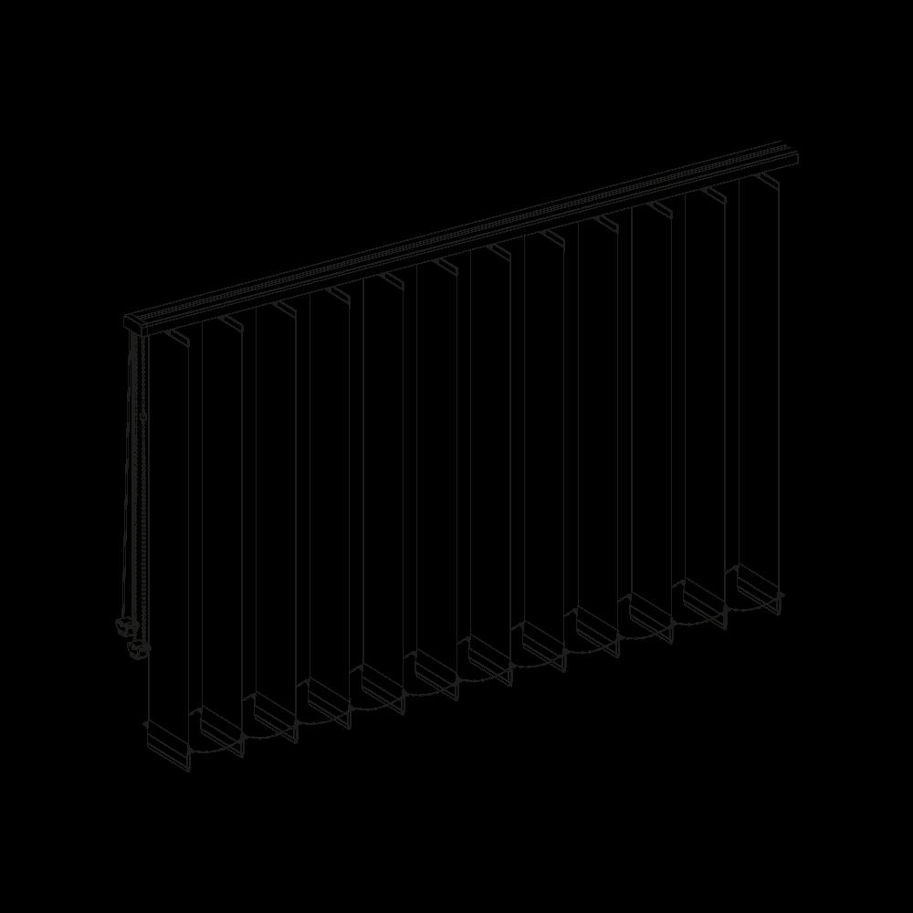 Lamas verticales con riel recto