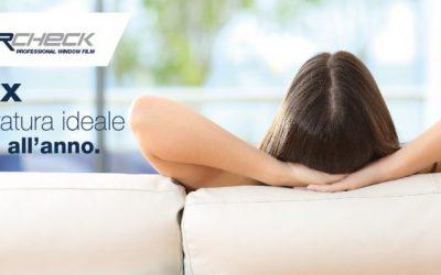 Pellicole per vetri basso-emissive Ecolux, temperatura ideale per tutto l'anno.